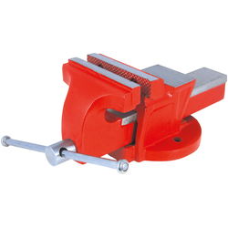 Connex Schraubstock, 100 mm, feststehend rot Schraubstöcke Werkzeug Maschinen Schraubstock