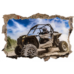 DesFoli Wandtattoo Buggy Offroad Piste Sportmotor D2538 150 cm x 98 cm