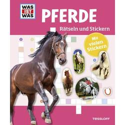 WAS IST WAS Rätseln und Stickern: Pferde