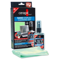 ceragol ultra® Nano Display Cleaning Set Bildschirmreiniger, Nano Bildschirmreiniger als Set, 50 ml - Sprühflasche + 1 Microfasertuch