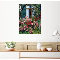 Posterlounge Wandbild, Am Blumenfenster 50 cm x 70 cm
