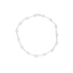JuwelmaLux Collier Perlen Collier Süßwasser-Zuchtperle Silber 925/000
