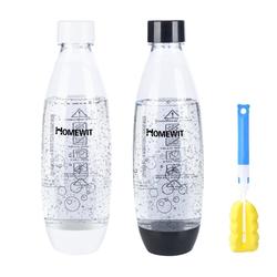 Homewit Wasserkaraffe 2x Zubehör zu Soda-Sprudler PET-Flasche, (Set, 2-tlg., Flaschen 2, 1L), für SODASTREAM