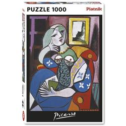 Piatnik Puzzle 5341 Pablo Picasso Frau mit Buch 1000 Teile Puzzle, 1000 Puzzleteile bunt