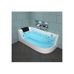 HOME DELUXE Whirlpool-Badewanne Carica, (4-tlg), B/T/H: 170 / 80 / 59 cm