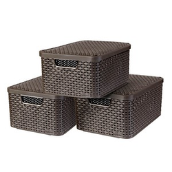 curver STYLE M Aufbewahrungsboxen braun 39,7 x 29,0 x 18,7 cm