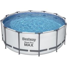 BESTWAY Steel Pro Max Frame Pool Set 366 x 122 cm inkl. Filterpumpe