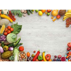 Platzset, Tischsets I Platzsets - Obst und Gemüse Mix - 12 Stück aus hochwertigem Papier 44 x 32 cm, Tischsetmacher, (12-St)