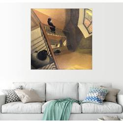 Posterlounge Wandbild, Das Treppenhaus 30 cm x 30 cm