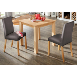 Home affaire Essgruppe, (Set, 3-tlg) braun