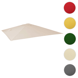 Bezug für Luxus-Ampelschirm HWC-A96, Sonnenschirmbezug Ersatzbezug, 3x4m (Ø5m) Polyester 3,5kg ~ creme