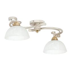 Licht-Erlebnisse Deckenleuchte AURORA WHITE Deckenleuchte Chabby Chick Weiß Landhaus Messing Lampe