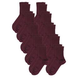 Rogo Socken (10-Paar) im 10er Vorteilspack rot 35/38