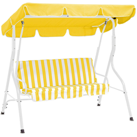 DEGAMO Florida 3-sitzer weiß/gelb