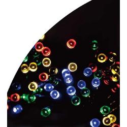 JOKA international LED-Lichterkette Solar Lichterkette 50 bunte LEDs für Terrasse, Balkon usw., 50-flammig, LED Solar