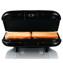 C3 C3 Chiabatta 2 Sandwich-Grill Schwarz