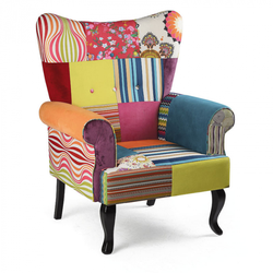 Patchwork sessel relax