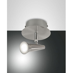 Niko Spot, LED, 5W Nickel satiniert Methacrylat satiniert