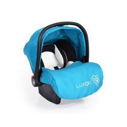 Moni Babyschale Babyschale, Kindersitz Luxor, Gruppe 0+, 2.9 kg, (0 - 13 kg), Sitzpolster, Fußabdeckung blau