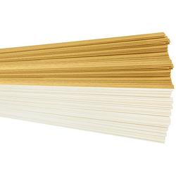 Tonpapierstreifen, gold-creme, 1 x 35 cm, 200 Stück