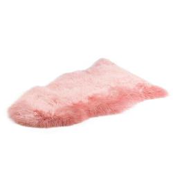 Fellteppich Schaffell Teppich, Gözze, fellförmig, Höhe 50 mm, echtes Schaffell, Wohnzimmer rosa