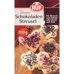 RUF Schokoladen-Streusel Glutenfreie Streusel fein herber Schokolade 200g