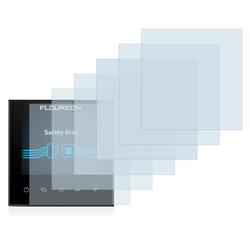 Savvies Schutzfolie für Floureon Smart Wifi HY03WE, (6 Stück), Folie Schutzfolie klar