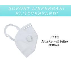 10x FFP2 Atem Schutzmaske Mundschutz Feinstaubmaske Mund-Nasen-Schutz mit Ventil