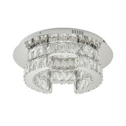 Basispreis* KHG LED-Kristalldeckenleuchte ¦ silber ¦ Maße (cm): H: 15 Ø: [43.0]