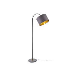 lux.pro Stehlampe, Toledo Stehleuchte Design schwenkbare Lampe Metall grau/gold