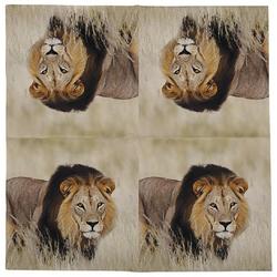 Linoows Papierserviette 20 Servietten Löwe, Afrikanische Tiere der Löwe, Motiv Löwe, Afrikanische Tiere der Löwe