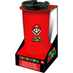 Coffee-to-go-Becher Super Mario Thermo Reisebecher Edelstahl (425 ml)