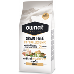 14kg Ownat Grain Free Hypoallergenic Lamb Adult Hundefutter (14 kg)