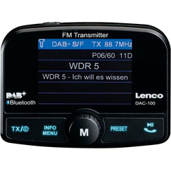Lenco DAC-100 Autoradio (Digitalradio (DAB), FM-Transmitter, Automatische Senderverfolgung)