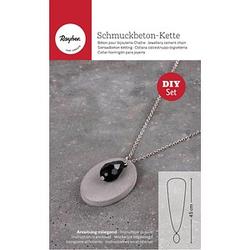 Rayher Schmuck-Basteln-Set Halskette Schmuckbeton Tropfen