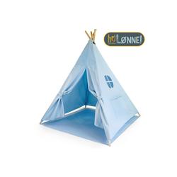 Hej Lønne Tipi-Zelt Tipi Zelt für Kinder blau einfarbig Indianerzelt