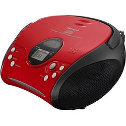 Lenco SCD-24 mit CD stereo UKW-Radio rot
