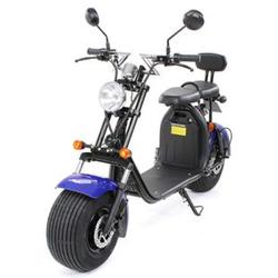 eFlux Harley Two Elektro Scooter mit Straßenzulassung 1500 Watt 60 Volt blau