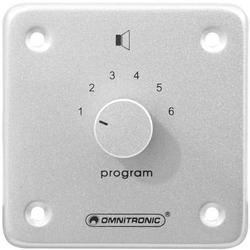 Omnitronic 80711073 Einbau ELA-Programmwähler Silber