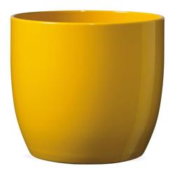 matches21 HOME & HOBBY Blumentopf Pflanztopf Keramik Blumentopf glänzend Ø 14 cm Gelb (1 Stück) gelb