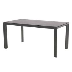 Gartentisch mit einem Gestell aus Aluminium in anthrazit und einer Spraystone Tischplatte, Maße: B/H/T ca. 160/74/90 cm
