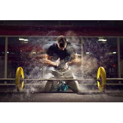 DesFoli Poster Kraftsport Fitness Hantel Fitnessstudio P2585 91.5 cm x 61 cm