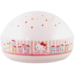 Niermann 80034 LED-Nachtlicht mit Projektor Rund Hello Kitty LED Rosa