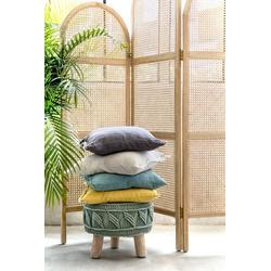 Walra Dekokissen Casual Linen, in schlichten Unifarben grau 45 cm x 45 cm