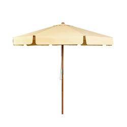 COSTWAY Sonnenschirm Gartenschirm, Terrassenschirm, Ø300cm, Kippbar, für den Garten, Strand oder am Pool weiß