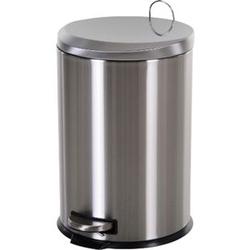 HOMCOM Kücheneimer mit Inneneimer silber, schwarz 29,2 x 44 cm (ØxH)   Abfalleimer Abfallsammler Treteimer Mülleimer