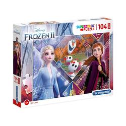 Clementoni® Puzzle Puzzle 104 Teile Maxi Die Eiskönigin 2, Puzzleteile