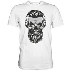 weargo T-Shirt Hipster Skull Totenkopf mit Gasmaske 4XL