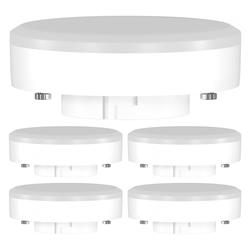 GX53 LED Leuchtmittel 10W=74W 1000lm 4100K 120° Strahler weiß, 5 Stk.