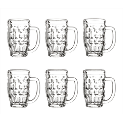 Bormioli Rocco Bierglas Malles 6er Set Bierseidel 370 ml − Füllstrich 0,3 l − Bierkrug Massiv, Glas